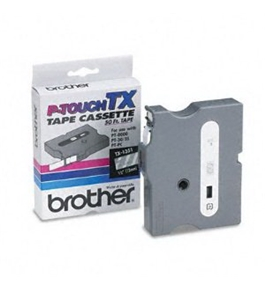Brother TX1351 White on Clear P-Touch Tape