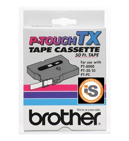 Brother TX1521 Red on Clear P-Touch Tape