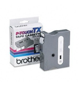 Brother TX1551 White on Clear P-Touch Tape