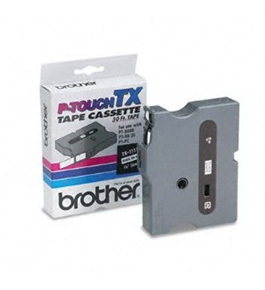 Brother TX2111 Black on White P-Touch Tape