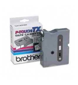 Brother TX2411 Black on White P-Touch Tape