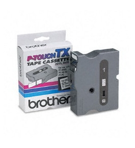 Brother TX2511 Black on White P-Touch Tape