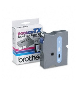 Brother TX2531 Blue on White P-Touch Tape