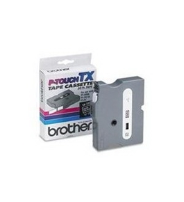 Brother TX3351 White on Black P-Touch Tape
