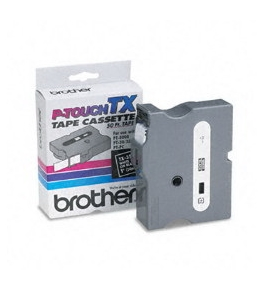 Brother TX3551 White on Black P-Touch Tape