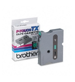 Brother TX7311 Black on Green P-Touch Tape