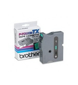 Brother TX7511 Black on Green P-Touch Tape