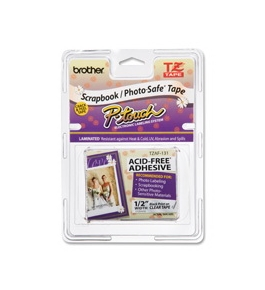 Brother TZAF131 Tape Cartridge, Black on Clear