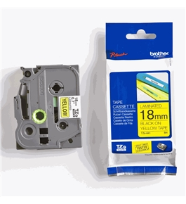 Brother TZ641 3/4 In. Black On Yellow P-touch Tape, TZe-641