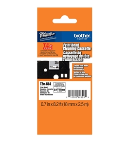 Brother TZeCL4 Cleaning Tape 3/4 Inch - White