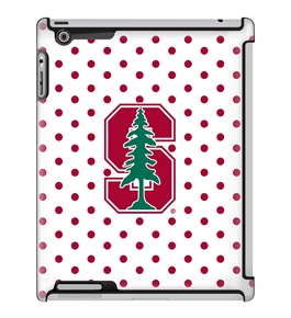 Uncommon LLC Stanford University Polka Dots Deflector Hard Case for iPad 2/3/4 (C0050-HC)