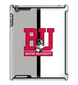Uncommon LLC Half Color Deflector Hard Case for iPad 2/3/4, Boston University (C0050-HL)