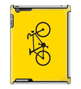 Uncommon LLC Plural Bicycle Yellow Deflector Hard Case for iPad 2/3/4 (C0050-VN)