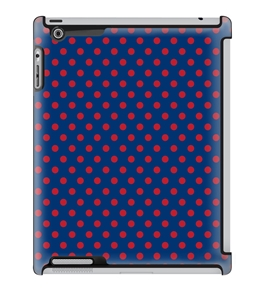 Uncommon LLC Country Navy Dots Deflector Hard Case for iPad 2/3/4 (C0050-ZL)