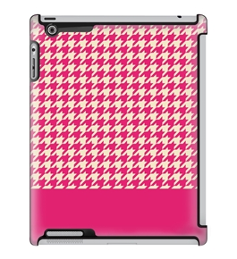 Uncommon LLC Houndstooth Pink Block Pink Deflector Hard Case for iPad 2/3/4 (C0010-FU)