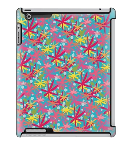 Uncommon LLC Deflector Hard Case for iPad 2/3/4, Spunky Floral Blue (C0010-NT)