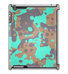 Uncommon LLC Deflector Hard Case for iPad 2/3/4, Mosaic Camo Gray Blue (C0010-LR)