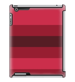 Uncommon LLC Deflector Hard Case for iPad 2/3/4, Red Tint Stripe (C0010-LN)