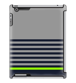 Uncommon LLC Deflector Hard Case for iPad 2/3/4, Sky Belt Bottom Gray Green (C0010-VB)
