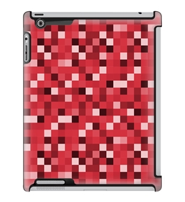Uncommon LLC Deflector Hard Case for iPad 2/3/4, Red Blocks (C0010-OF)
