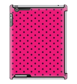 Uncommon LLC Mini Dots Pink Cutie Deflector Hard Case for iPad 2/3/4 (C0010-IR)