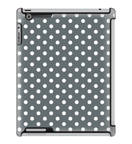 Uncommon LLC Deflector Hard Case for iPad 2/3/4 - White Polka Dark Gray (C0060-FO)
