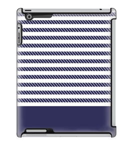 Uncommon LLC Rope Stripe Navy Deflector Hard Case for iPad 2/3/4 (C0060-IZ)