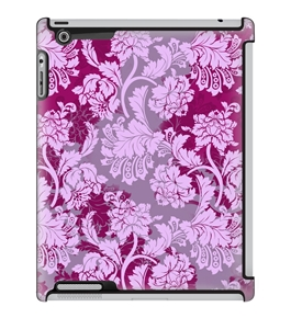 Uncommon LLC Deflector Hard Case for iPad 2/3/4 - Overlay Lace Berry (C0070-MD)