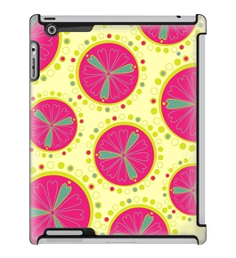 Uncommon LLC Deflector Hard Case for iPad 2/3/4, Pink Lime Yellow (C0060-WB)