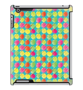 Uncommon LLC Deflector Hard Case for iPad 2/3/4, Crooked Brushed Dots Blue (C0060-VM)