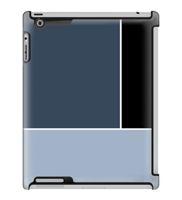 Uncommon LLC Deflector Hard Case for iPad 2/3/4, Gray Blue Color Block (C0060-UL)