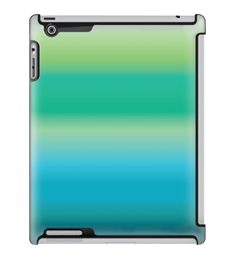 Uncommon LLC Deflector Hard Case for iPad 2/3/4, Blue Coral Gradient (C0070-NO)