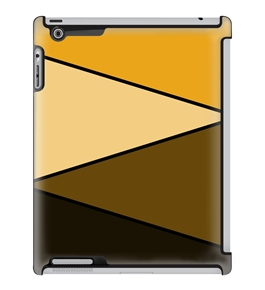 Uncommon LLC Deflector Hard Case for iPad 2/3/4 - Orange Zag (C0060-TP)