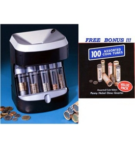Ultra Sorter Motorized Coin Sorter with 100 free coin tubes [Toy]