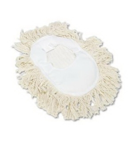 UNISAN Wedge Dust Mop Head, Cotton, 17 1/2 Length x 13 1/2 Width, White (1491)
