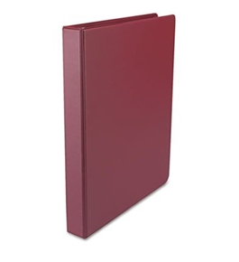 Universal Round Ring Binder, Suede Finish Vinyl, 1  Capacity, Burgundy - 31406
