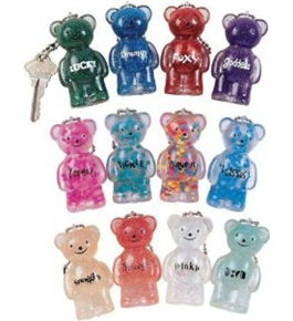 USA Wholesaler- 16488000-Jelly Bears Key Chain Case Pack 48