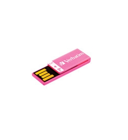 Verbatim 8GB Clip-It USB Flash Drive - Hot Pink,Minimum Qty. 10 - 43935