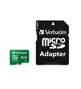 Verbatim 64GB Pro MicroSDXC Memory Card with Adapter, UHS-1 Class 10,Minimum Qty. 20 - 44042