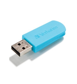 Verbatim 16GB Mini USB Flash Drive - Blue,Minimum Qty. 10 - 49832