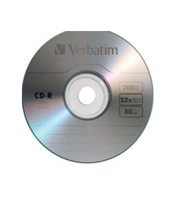 Verbatim CD-R 700MB 52X with Branded Surface - 10pk Slim Case,Minimum Qty. 8 - 94935