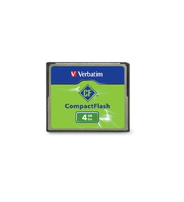 Verbatim 4GB CompactFlash Memory Card,Minimum Qty. 4 - 95188
