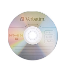 Verbatim DVD+R DL 8.5GB 8X with Branded Surface - 30pk Spindle,Minimum Qty. 4 - 96542