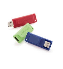 Verbatim 4GB Store 'n' Go USB Flash Drive - 3pk - Red, Green, Blue,Minimum Qty. 4 - 97002