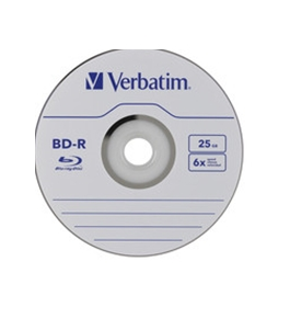 Verbatim BD-R 25GB 6X with Branded Surface - 25pk Spindle Box,Minimum Qty. 6 - 97457