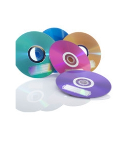 AZO DVD-R 4.7GB 16X Vibrant Colors - 10pk Blister, Assorted, Pack of 10, Minimum Qty. 6 - 97513