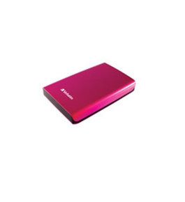 Verbatim 500GB Store 'n' Go Portable Hard Drive, USB 3.0 - Pink,Minimum Qty. 2 - 97656