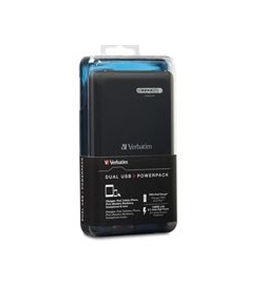 Verbatim Dual USB Power Pack, 12000mAh - Black,Minimum Qty. 6 - 98343