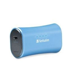 Verbatim Portable Power Pack, 2200mAh - Aqua Blue,Minimum Qty. 6 - 98359