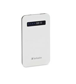 Verbatim Ultra-Slim Power Pack, 4200mAh - White,Minimum Qty. 6 - 98454